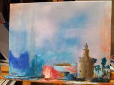Colores de Sevilla. Técnica mixta y acrílico