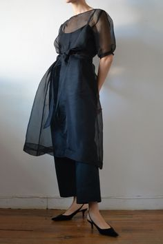 A delicate organza over-dress to wear in the evening hours (or over jeans for grocery shopping). This dress is sheer and comes with a matching belt. Silk * Size and Fit * Model is wearing a size S Fitness Models, Wrap Dress, Shirt Dress, Silk, Studio, How To Wear, Shirts, Shopping, Dresses