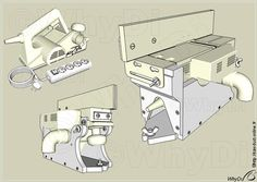 Overview Homemade Machine, Desk Plans, Woodworking Jigs, Diy Tools, Wood Crafts, Shed, Workshop, Floor Plans, Mini