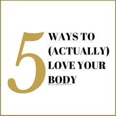 Up on the blog today...5 ways to {actually} love your body. This is a topic that I'm incredibly passionate about. It's something that I've always struggled with myself and I want to be able to share what's helped and has/is working for me. Share on the love and message <3