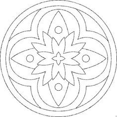 Simple mandala coloring pages for kids free ci for Dibujos para mosaiquismo