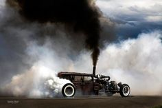 Diesel rat rod burnout