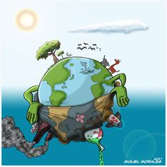 Items similar to Mother Earth – Go Green – Earth Day, Every Day on Etsy Save Planet Earth, Save Our Earth, Earth Day, Save Environment Posters, Save Earth Posters, Save Earth Drawing, Image Triste, Cartoons Magazine, Earth Drawings