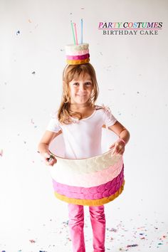 FELT Birthday Cake Halloween Costume by  A Subtle Revelry...the mini cake hat is just the cutest thing ever!