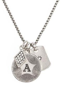 16698d0f9007 Women s Treasure   Bond Triple Charm Initial Pendant Necklace