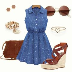 To find out about the Blue Lapel Sleeveless Stars Print Pleated Dress at SHEIN, part of our latest Dresses ready to shop online today! Types Of Dresses, Latest Dress, Star Print, Fashion Outfits, Womens Fashion, How To Look Pretty, Spring Outfits, Outfit Of The Day, Fashion Beauty