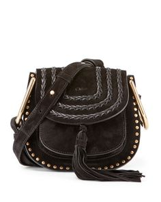 Hudson Mini Suede Shoulder Bag, Black by Chloe at Neiman Marcus.