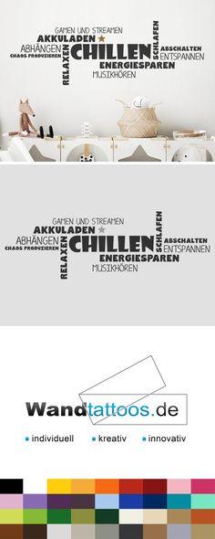 Wandtattoo Chillen Wortwolke mit Stern als Idee zur individuellen Wandgestaltung. Einfach Lieblingsfarbe und Größe auswählen. Weitere kreative Anregungen von Wandtattoos.de hier entdecken! Dennis, Shopping, Products, Save Energy, Clouds, Gadget