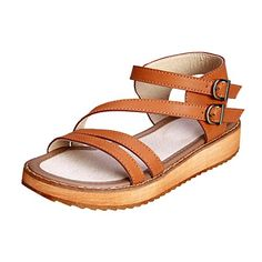 644027c2f5c27 Lady s Roman Sandal Shoes Open Toe Double Toe Strap Cross Strappy Gladiator Wedge  Sandals Women s Shoes