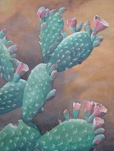 """Nopal"" (Prickley Pear Cactus)  Acuarela en Papel Arches (Watercolor on Arches Paper)  24""x18""  2003  Colección Particular (Private Collection) www.albertoarredondo.com  http://www.saatchionline.com/alarred"