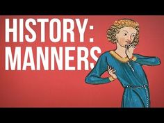 HISTORY OF IDEAS - Manners  Looked at over time, we're gradually picking up slightly better manners – but what are we doing now that might, in future eras, be considered bad manners? By: The School of Life.Get The School of Life merchandise