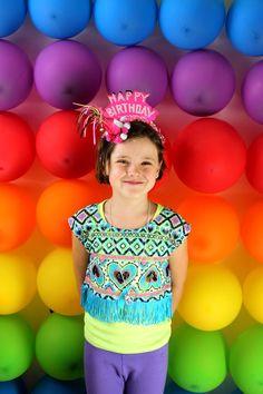 Balloon Photo Backdrop... And other rainbow ideas