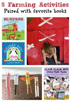5 Adorable Farm Activities & Books - pair an activity with the book for extra fun and encourage reading!