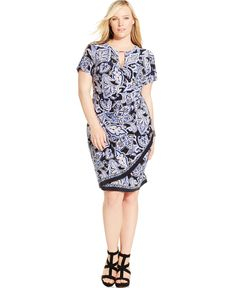ff543609eba3 INC International Concepts Plus Size Faux-Wrap Keyhole Sheath Dress Plus  Sizes - Dresses - Macy s