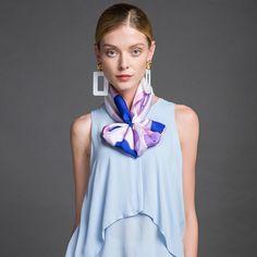 Luxusná ženská hodvábna šatka - 106 x 106 cm Outfit, Fashion, Outfits, Moda, Fashion Styles, Fashion Illustrations, Kleding, Clothes