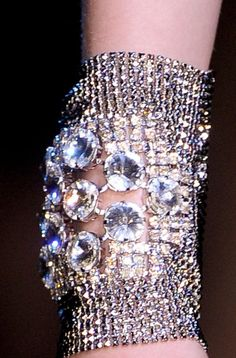 Holy Sparkle! Bracelet Armani Prive Fall 2012