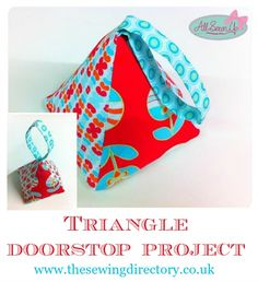 Triangle fabric doorstop project