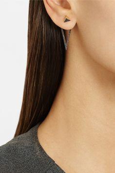 Ileana Makri|Triangle 18-karat gold diamond earrings|NET-A-PORTER.COM