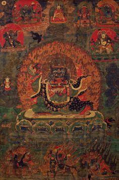 Mahakala Bernag Chen (Black Cloak). Tibet. 1700s.