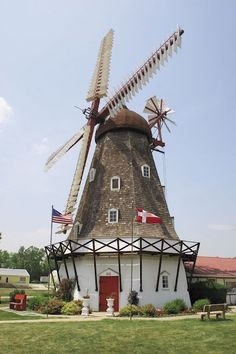 25 Things to Do on Vacation in Iowa . Tama-Toledo is mentioned twice! Not bad for a one horse town :) Vertical Windmill, Great Buildings And Structures, Water Tower, Le Moulin, Covered Bridges, Denmark, Wind Turbine, Places To See, Around The Worlds