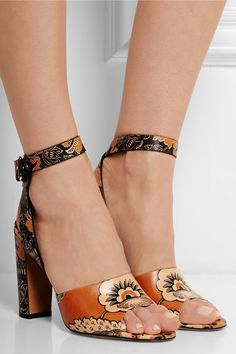 ValentinoCovered printed leather sandalsfront