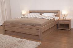 Karlo klasik - oblé rohy - dub bardolino Bed Furniture, Furniture Design, Platform Bed Designs, Interior Design Kitchen, Mattress, Ottoman, Chair, Diy, Home Decor