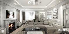 Luksusowe wnętrza salonu. - zdjęcie od ArtCore Design