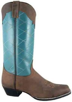 Smoky Mountain 6547 Women's Tucson Boot Crazy Horse/Turquoise 10 M Smoky Mountain. $62.10. Square toe. Composition sole. Western heel. Leather upper. leather. Tall 13-inch shaft. Save 35% Off!