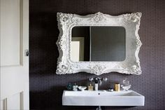 I'm not usually one for the ornate, but who wouldn't want to brush their teeth in front of this mirror?