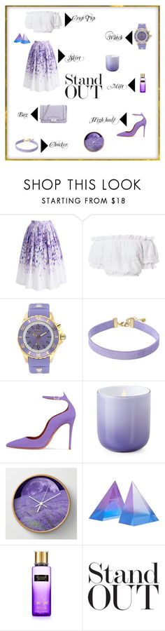"""""""Fifty shades of purple"""" by georgia-kalampuka ❤ liked on Polyvore featuring Chicwish, LoveShackFancy, KYBOE!, Vanessa Mooney, Jonathan Adler and Victoria's Secret"""
