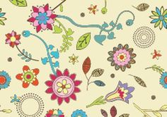 Cute Flowers Wallpaper Pattern from eps park.com