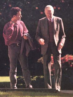 tom hanks and jimmy stewart, 1989, two of the best men.