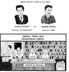 «Orwell vs Huxley» ver todo: http://pedacicosarquitectonicos.com/2013/08/30/orwell-vs-huxley-la-explicacion-de-por-que-nadie-hace-nada/