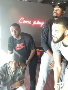 Ian Clark, Kevin Durant, Javale McGee and Patrick McCaw #dubnation