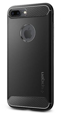 Spigen Rugged Armor iPhone 8 Plus Case / iPhone 7 Plus Case with Resilient Shock Absorption and Carbon Fiber Design for Apple iPhone 8 Plus / iPhone 7 Plus – Black Best Iphone, Iphone 4s, Apple Iphone, Iphone 7 Plus Cases, Cell Phone Cases, Original Apple Logo, Samsung Galaxy S5, Carbon Fiber, Ipad Case