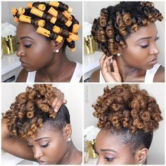 Perm rod set + Puff? So cute! @nae2curly #MyHairCrush #permrods #permrodset…