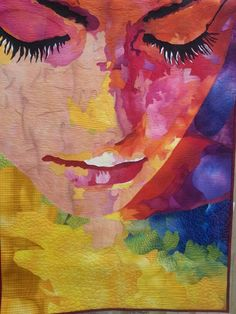 Wow! I would love to be able to do portrait quilts like this. Seriously, wow! Sierra