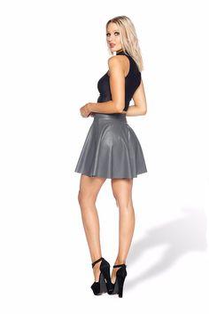 Route 66 Grey Skater Skirt