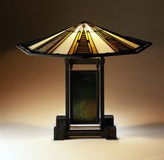 Table Lamp from the Susan Lawrence Dana House, Springfield, Illinois Frank Lloyd Wright (United States, Illinois, Chicago, 1867-1959) Linden Glass Company (United States, Illinois, Chicago) United States, 1902-1904