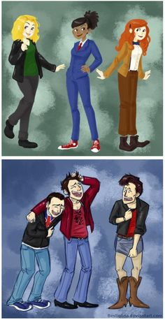 Companions as Doctors, and Doctors as companions...poor Eleven... // oh my goodness gender swapping does NOT work well for 11! Hahah :)