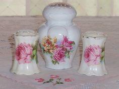 Vintage rose salt & pepper and sugar shaker by eg2006, via Flickr