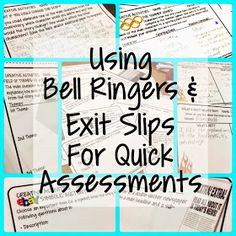 Bell Ringers & Exit Slips for Quick Assessments (www.traceeorman.com)