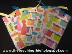 The Teaching Thief: DIY Happy Birthday Bookmarks
