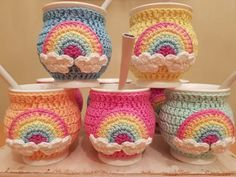 Pots And Pans Sets, Crochet Decoration, Plushies, Precious Metals, Flower Pots, Peppermint, Knit Crochet, Cactus, Knitting