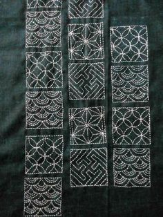 Sashiko Embroidery, Hand Embroidery, Kutch Work, Pin Cushions, Simply Beautiful, Cushion Covers, Fabric Crafts, Weaving, Delicate