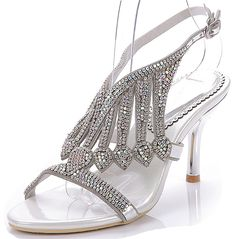 MissPretty Women Crystal Strap Heel Leather Prom Party Sandal Gold Stiletto Heels >>> Check this awesome product by going to the link at the image. #womensandals