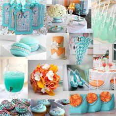 Tiffany & Orange Wedding Inspiration Board