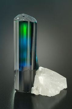 Tourmaline Specimen.  Wow, I would love to have a gemstone cut from that tourmaline.