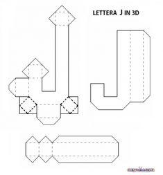 SAGOME LETTERE DELL'ALFABETO E NUMERI IN 3D E NON | CreaConLaCarta Letter Standee, 3d Paper Projects, Alphabet Templates, Cute Cat Wallpaper, Paw Patrol Party, 3d Letters, Cute Box, Paper Crafts Origami, Letter Patterns