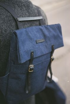 Newspaper Rucksack Denim